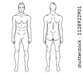 man full body front and back... | Shutterstock .eps vector #1128922901