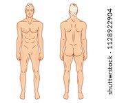 man full body front and back... | Shutterstock .eps vector #1128922904