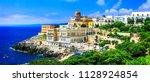 santa cesarea terme   beautiful ... | Shutterstock . vector #1128924854