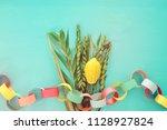 jewish festival of sukkot....   Shutterstock . vector #1128927824