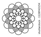 flower mandala vector... | Shutterstock .eps vector #1128943154