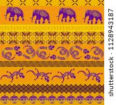tribal ethnic seamless pattern. ... | Shutterstock .eps vector #1128943187
