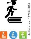 graduate book icon | Shutterstock .eps vector #1128945044