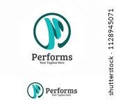 digital letter p logo design... | Shutterstock .eps vector #1128945071