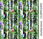 watercolor illustration  summer ... | Shutterstock . vector #1128951005