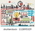 abstract factory info graphic... | Shutterstock .eps vector #112895329
