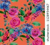 watercolor seamless pattern... | Shutterstock . vector #1128954467