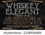 classic vintage decorative font ... | Shutterstock .eps vector #1128956684