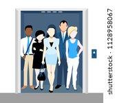 multiethnic busines people in...   Shutterstock .eps vector #1128958067