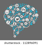 social media  background of the ... | Shutterstock .eps vector #112896091