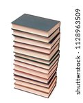stack of old paper books on a... | Shutterstock . vector #1128963509