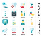 set of 16 icons such as tooth ... | Shutterstock .eps vector #1128976214