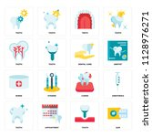 set of 16 icons such as gum ... | Shutterstock .eps vector #1128976271