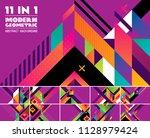 modern geometric vector... | Shutterstock .eps vector #1128979424