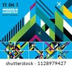 modern geometric vector... | Shutterstock .eps vector #1128979427