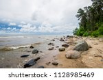 stormy weather. a view of the... | Shutterstock . vector #1128985469