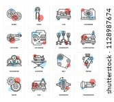 set of 16 icons such as...   Shutterstock .eps vector #1128987674