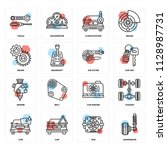 set of 16 icons such as...   Shutterstock .eps vector #1128987731