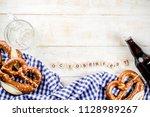 oktoberfest food menu  bavarian ... | Shutterstock . vector #1128989267