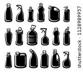 bottles detergent set. vector | Shutterstock .eps vector #1128989957