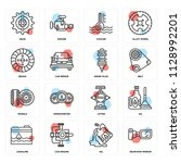 set of 16 icons such as... | Shutterstock .eps vector #1128992201