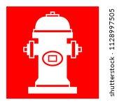 fire hydrant symbol sign vector ... | Shutterstock .eps vector #1128997505