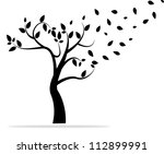 Background With Abstract Tree....