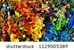 abstract psychedelic background ... | Shutterstock . vector #1129005389