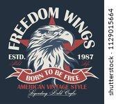 eagle head logo for t shirt ... | Shutterstock . vector #1129015664