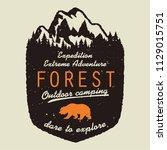 adventure logo. outdoor...   Shutterstock . vector #1129015751