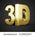 3d gold symbol on black... | Shutterstock . vector #112902337