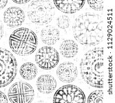 round motif ornament in vintage ... | Shutterstock .eps vector #1129024511