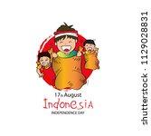 17 august indonesian game... | Shutterstock .eps vector #1129028831