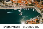aerial top view of old town... | Shutterstock . vector #1129029107