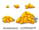 yellow color sapphire set | Shutterstock .eps vector #1129045679