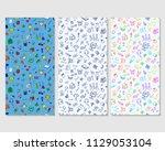back to school. set of doodle...   Shutterstock .eps vector #1129053104