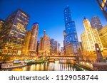 chicago  illinois  usa... | Shutterstock . vector #1129058744