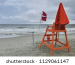 Closed Beach Warning Flags On...