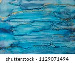 alcohol ink art. abstract...   Shutterstock . vector #1129071494