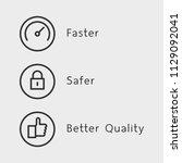 faster  safer and better...   Shutterstock .eps vector #1129092041