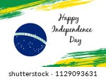 happy brazil independence day... | Shutterstock .eps vector #1129093631