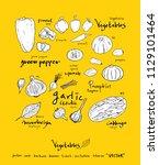 hand drawn food ingredients  ...   Shutterstock .eps vector #1129101464