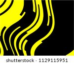 black and yellow wavy... | Shutterstock .eps vector #1129115951