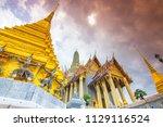 wat phra kaew or wat phra si... | Shutterstock . vector #1129116524