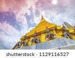 wat phra kaew or wat phra si... | Shutterstock . vector #1129116527