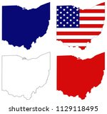 vector illustration of ohio... | Shutterstock .eps vector #1129118495