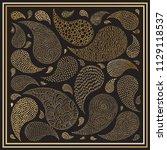 vector ornamental paisley shawl ... | Shutterstock .eps vector #1129118537