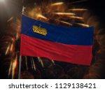 flag of liechtenstein with... | Shutterstock . vector #1129138421