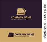 abstract logo idea | Shutterstock .eps vector #1129143101