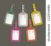 leather luggage tags labels.... | Shutterstock .eps vector #112914484